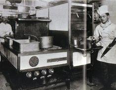 Titanic Kitchen stove in use.