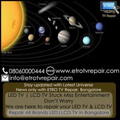 We repair all types of LED TV & LCD TV in Bangalore. Call @ 08060000444 | Mail @ info@etrotvrepair.com Get Appointment Online from http://www.etrotvrepair.com