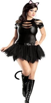 Catwoman fancy dress plus size