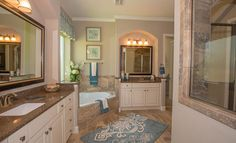 The gorgeous Marseilles Model Master Bath from @lennarhouston at Falls at Imperial Oaks!