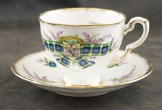 Royal Stafford Tartan Series Fine Bone China Cup and Saucer GORDON by RarebirdAntiques on Etsy