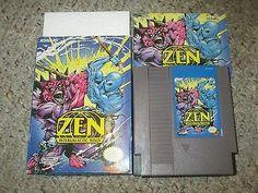 Zen: Intergalactic Ninja (Nintendo Entertainment System, for sale online Nintendo Entertainment System, Zen, Ninja Gaiden, Best Graphics, Nintendo Games, Cover Art, Entertaining, Ebay, Funny