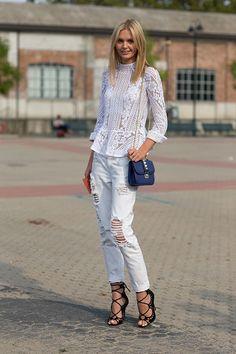 Street Style: Milan Fashion Week Spring 2014 - Jessica Stein with Valentino bag