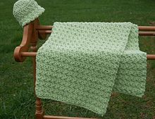 Ravelry: Done in a Jiffy Baby Blanket pattern by Marie Anne St. Jean