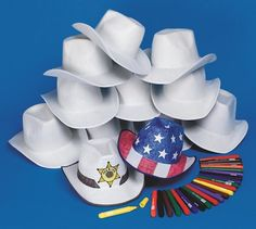 Buy Cowabunga Cowboy Hats Craft Kit (makes 12) at S&S Worldwide