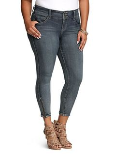 Torrid Stiletto Zip Jegging  Medium Wash -- Click image for more details.(This is an Amazon affiliate link and I receive a commission for the sales)