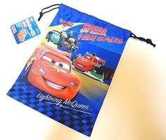 DAISO JAPAN Drawstring bag CARS lightning mcqueen accessory case #DAISO