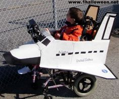 Space shuttle Halloween wheelchair costume