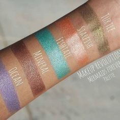 Makeup revolution mermaids forever pallete swatches