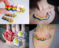 Nyan Cat Necklace by OlechkaDesign