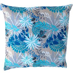 Blue Floral Abstract Cushion Cover MARYEMMA DECOR - FREE POSTAGE IN AUSTRALIA