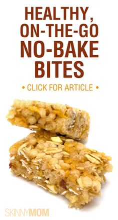"6 Snacks, No ""Cook Times."" From 3 ingredient energy bars to protein bites, we have you covered!"