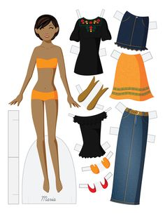 MARIA - Fashion Friday Paper Doll by Julie Matthews from Paper Doll School
