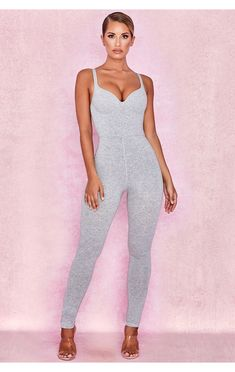 c137d1983a2 Kalani Grey Soft Loungewear Jumpsuit Loungewear Jumpsuit