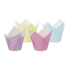 """Backförmchen Ø 5 cm · 8,5 cm farbig sortiert """"Tulip""""   Backpapier & Backförmchen   Verpackungen für Lebensmittel"""
