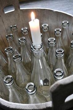 bottle candleholder