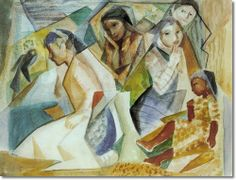 Lloyd Moylan - Indian Women - Original Size 21x27 Watercolor on Paper Painting