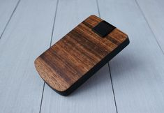 Real afromosia wood, leather edge, cascade system, magnet clamp. B L A Z E R  personalized business card case card holder wallet wood business cardholder for men him boyfriend card sleeve credit card case mens wallet