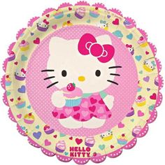 Hello Kitty Large Paper Plates, 12-Pack