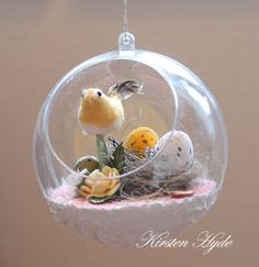 My Craft and Garden Tales: Easter decoration with Easter eggs in a little nest Easter Eggs, Snow Globes, Nest, Craft Ideas, Decoration, Garden, Crafts, Home Decor, Nest Box