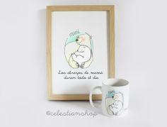 ''Los abrazos de mamá duran todo el día'' #mamá #madre #diadelamadre #regalos #pinterest