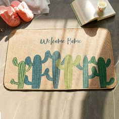 Summer Woven Handmade Carpet Straw Floor Mat Cactus Welcome Home Soft Baby Playing Carpets for Living Room Bedroom Rug Living Room Carpet, Living Room Bedroom, Safe Shop, Bettering Myself, Welcome Home, Floor Mats, Carpets, Cactus, Flooring