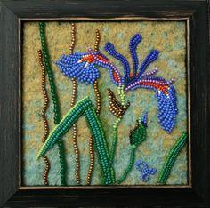 Large photo of Iris Jo Wood, Wood Art, Beading Projects, Beading Ideas, Seed Bead Art, Mosaic Rocks, Landscape Quilts, Felt Decorations, Felt Art