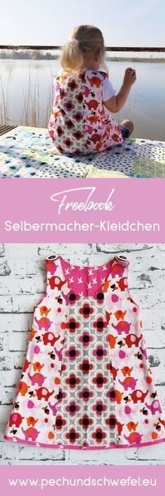 Kids Clothing Sew the dress with the Alles-für-Selbermacher pattern Kids ClothingSource : Kleid nähen mit dem Alles-fuer-Selbermacher Schnittmuster by anjaserow Baby Knitting Patterns, Dress Sewing Patterns, Clothing Patterns, Pattern Sewing, Crochet Patterns, Pattern Dress, Baby Patterns, Sewing For Kids, Baby Sewing