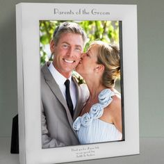 Engraved Parents of the Groom Silver Photo Frame - 7x5