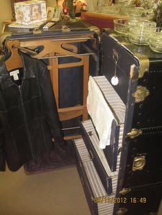 Vintage steamer trunk by NaNasUnforgetables on Etsy, $300.00