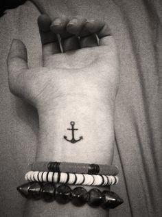 My anchor wrist tattoo I got for my 18