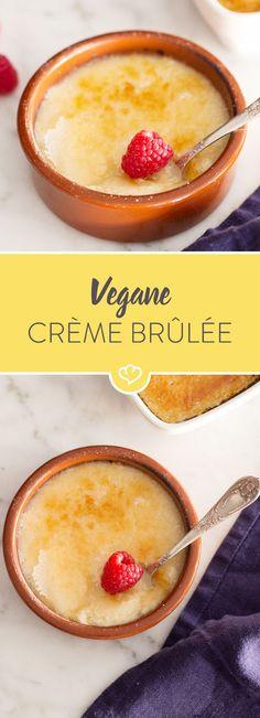 Seidentofu verleiht der Crème eine herrliche Cremigkeit und da Zucker zum Glück vegan ist, musst du auch nicht auf die typische Karamelldecke verzichten.