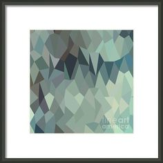 Egyptian Blue Terraces Abstract Low Polygon Background Framed Print By Aloysius Patrimonio