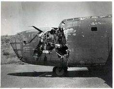Allied B-24 Liberator bombers that made it home despite being battle damaged!!