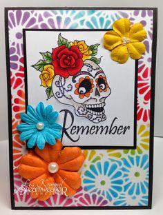 Day of the dead mixed media card conjure up this card to send day day of the dead mixed media card conjure up this card to send day of the dead greetings decoartprojects halloween pinterest dia de m4hsunfo