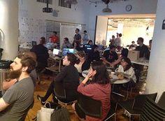 Eighteen VR hacker teams wait for final presentations to start. Vr, Storytelling, Photo Galleries, Presentation, Sunday, Entertaining, Gallery, Domingo, Funny