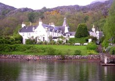 Letterewe House from a Boat on Loch Maree Ross-shire Scotland