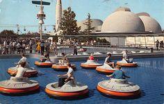 Disneyland Postcard Flying Saucers Ride in Tomorrowland~108313