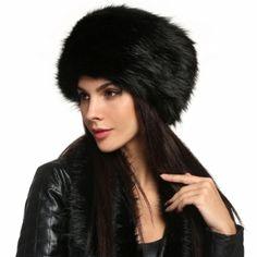 Zeogoo Women Fashion Winter Faux Fur Russian Cossack Style Hat Headband Ear  Warmer Fur Headband 1aeecf4d6903