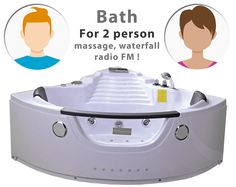 A beautiful bath designed for 2 person, you can also turn on the radio and relax for a moment. The price includes battery, spout, housing, drain , siphon and water pump with control panel. #massagejets #square #bath #bathtub #corner #relax