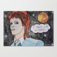 Bowie - Life on Mars Art Print by bublinko - X-Small Bowie Life On Mars, Canvas Prints, Art Prints, New Art, Hunky Dory, Shop, Products, Art Impressions, Photo Canvas Prints