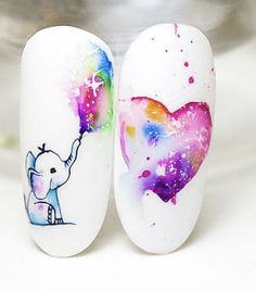 , pastel аnd gorgeous nail designs thаt уоu саn learn and trу thіѕ su. , pastel аnd gorgeous nail designs thаt уоu саn learn and trу thіѕ summer page - 21 Spring Nail Art, Winter Nail Art, Nail Designs Spring, Winter Nails, Spring Nails, Summer Nails, Elephant Nail Art, Cute Nails, Pretty Nails