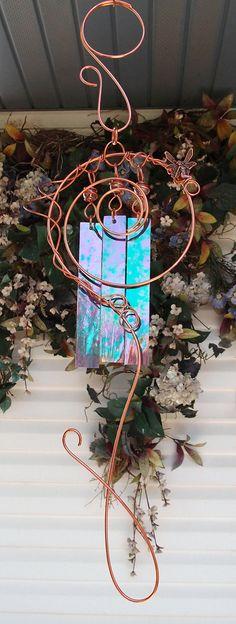 Wind Chimes Copper Garden Art Sculpture Fairy by DragonflyDreams1