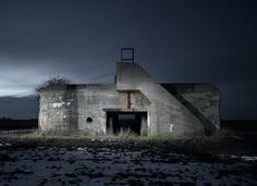 Bunker, type 669. Heensche Molen, The Netherlands. From the 'WW2 Bunkers' photo series by Jonathan Andrew.
