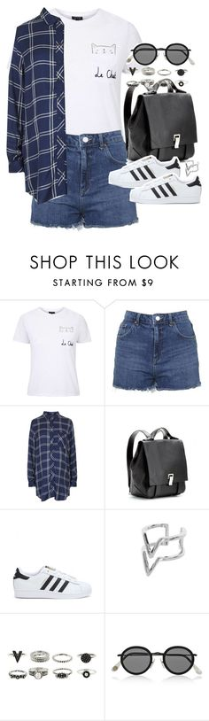 """Outfit for summer with Adidas sneakers"" by ferned ❤ liked on Polyvore featuring Topshop, Proenza Schouler, adidas, Edge of Ember and Acne Studios"