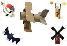 Jouets avec rouleau papier - décorations