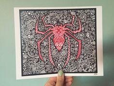 Zentangle Spiderman por ZenspireDesigns en Etsy