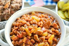 Slow Cooker Baked Beans with a secret ingredient--pineapple!