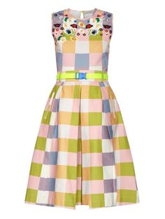 Preen Line Ivy embroidered cotton-blend dress