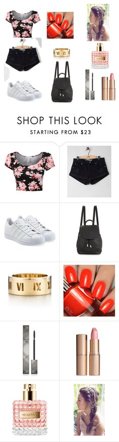 """*11"" by ambrine-77 on Polyvore featuring mode, Amuse Society, adidas Originals, rag & bone, Tiffany & Co., Burberry et Charlotte Tilbury"